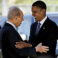 Peres with Obama Photo: AFP