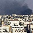 Smoke over Gaza (Archive) Photo: AP