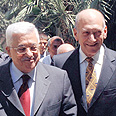 Abbas with Olmert (archives) Photo: Moshe Milner, GPO
