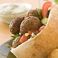 Half an order of falafel Photo: Boaz Lavi