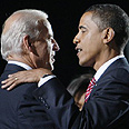 Unrestrained. Biden with Obama Photo: AP
