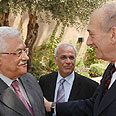 Olmert with Abbas in Jerusalem Photo: Amos Ben-Gershom (GPO)