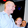 Olmert with the new immigrants Photo: Moshe Milner, GPO