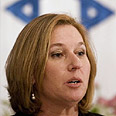 Ongoing efforts. Livni Photo: AP