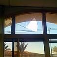 Shattered glass in wake of Akko riots Photo: MDA Akko