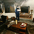 Arab home set on fire Photo: AFP