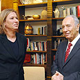 PM-designate Livni with President Peres Photo: Moshe Milner, GPO