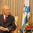 President Peres during Sunday's meeting with Livni Photo: Amos Ben Gershom, GPO