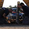 Grad rocket in Ashkelon Photo: Tsafrir Abayov