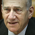 Olmert. 'We don't negotiate with terrorists Photo: Emil Salman
