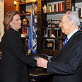 Livni with Peres Photo: Moshe Millner, GPO