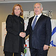 Livni, Netanyahu in one of their meetings Photo: Yaron Brener