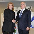 Livni, Netanyahu in one of their meetings Photo: Yaron Brener
