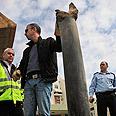 Grad rocket in Ashkelon Photo: AP