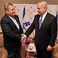 Barak with Netanyahu Photo: Dudu Azoulay