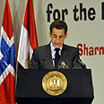 Sarkozy addresses donors Photo: AFP
