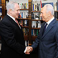 History? Peres and Netanyahu Photo: Avi Ohayon, GPO