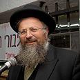 Rabbi Eliyahu. Concerned about Arab takeover Photo: Avihu Shapira