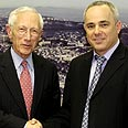 Bank of Israel Governor Stanley Fischer (L) with Finance Minister Yuval Steinitz Photo: Dudi Vaaknin