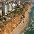Netanya's coast. About to change? Photo courtesy of Netanya Municipality