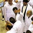 Iran's Ahmadinejad at nuclear facility Photo: AP