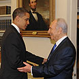 Gifts galore: Peres and Obama Photo: GPO
