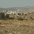 Illegal outpost in West Bank Photo courtesy of Peace Now