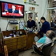 East J'lem residents tune in to Obama speech Photo: AP