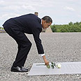 Obama at Buchenwald Photo: AP