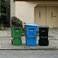Seperated bins in the United States Photo: AFP