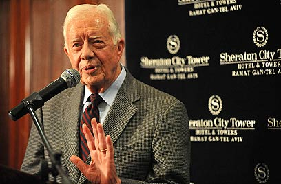 Jimmy Carter during previous visit to Israel (Photo: Dudu Azulay)