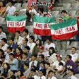 Protest in the stadium Photo: Reuters