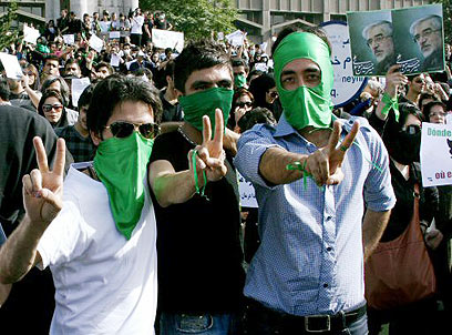 Protesters in Tehran after 2009 vote (Photo: Reuters)