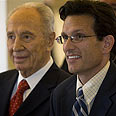 Eric Cantor with President Shimon Peres Photo: AP