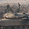 The tank that flipped over Photo: Avihu Shapira