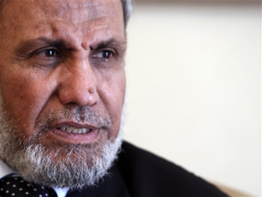Hamas strategist Mahmoud Al-Zahar Photo: AP