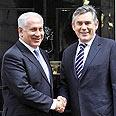 Netanyahu with British PM Gordon Brown Tuesday Photo: AP
