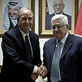 Mitchell and Abbas Photo: Reuters