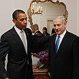 Obama and Netanyahu at start of meeting Photo: Avi Ohayon, GPO