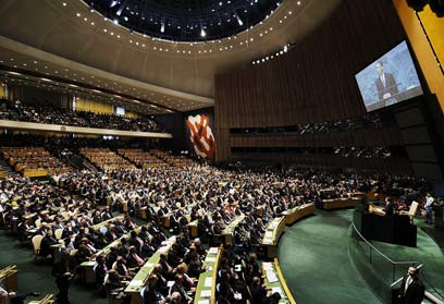 General Assembly. Automatic majority for Palestine (Photo: AFP)