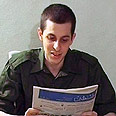 Captive solder Gilad Shalit as seen in video released by Hamas Photo: Reuters