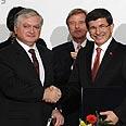 Signing of Turkish-Armenian peace deal Photo: AFP