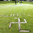 Swastika in Massachusetts. Hate incidents against Jews up (archives) Photo: AP/ The Standard Times, Peter Pereira