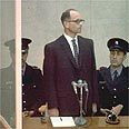 Adolf Eichmann on trial in Israel (archives) Photo: GPO