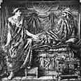 המלך אחאב ואשתו, איזבל.