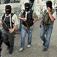 West Bank - Fatah gunmen on patrol Photo: AP