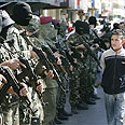 Palestinian troops in Ramallah Photo: AP