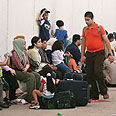 Hundreds 'stuck' at crossing Photo: AP