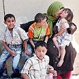 Palestinian family in Gaza Photo: AP