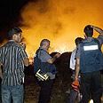 Qassam attack on Sderot Photo: Ronen Kerem